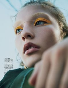 "VOGUE Japan ""A New Season of Color"" feat. Agnes Akerlund by Benjamin Lennox with styling from Vittoria Cerciello x Vogue Japan Beauty (October Hair by Pasquale Ferrante and beauty by Zenia. Makeup Inspo, Beauty Makeup, Eye Makeup, Hair Makeup, Hair Beauty, Makeup Brushes, Makeup Ideas, Vogue Makeup, Witch Makeup"