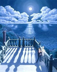Illusion Art : Rob Gonsalves is an artist from Toronto, Canada. His art works are mixing of creativity and optical illusion. Optical Illusion Paintings, Amazing Optical Illusions, Art Optical, Magic Illusions, Magic Realism, Realism Art, Magritte, Robert Gonsalves, Canadian Painters