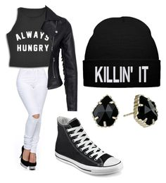 """""""Untitled #2"""" by kayla-daniels on Polyvore featuring New Look, Converse and Kendra Scott"""
