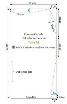 Aprende con SANDRA PADILLA : Falda Lápiz o Falda Tubo- en tela Licrada