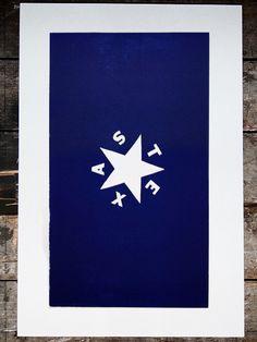 Texas, 1836 - TX - Old Try - Letterpress Print