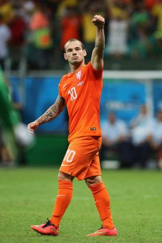 Wesley Sneijder of the Netherlands against Costa Rica in the 2014 World Cup
