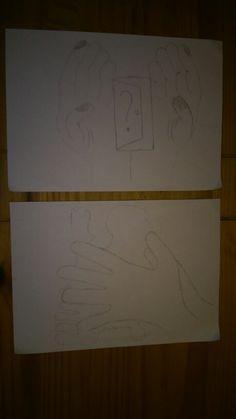 Dit waren mijn twee schetsen aan het begin uiteindelijk heb ik de onderste uitgewerkt omdat ik die het mooiste vond