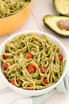 Avocado Pesto Linguine-It's like guac for your pasta.