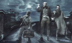 Jack Black, Will Ferrell and Jason Segel as the Hitchhiking Ghosts