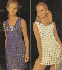 ladies summer dress and waistcoat crochet summer by EnglishCrochet