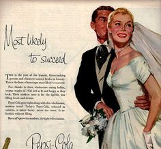 vintage pinup wedding 1958 advertisement pepsi by FrenchFrouFrou,