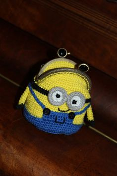 Handmade by Alpenkatzen Minions, Beanie, Hats, Handmade, Little Miss, Knitting And Crocheting, Dime Bags, Hand Made, Hat