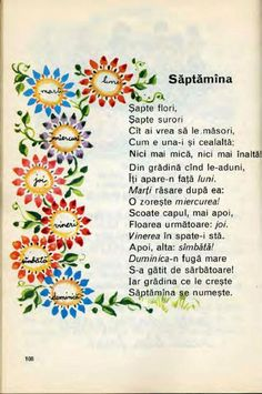 Din Abecedar: Săptămâna Kids Poems, Finishing School, Vintage School, Worksheets For Kids, Kids Education, Nursery Rhymes, Preschool Activities, Kids And Parenting, Kids Learning