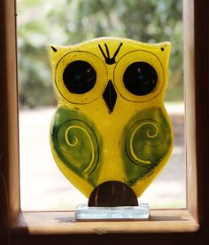 owl - Fused Glass  Sculpture