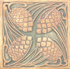 Tile Restoration Center - American Arts and Crafts Tiles, Ernest Batchelder and . - Tile Restoration Center – American Arts and Crafts Tiles, Ernest Batchelder and Claycraft Designs - Azulejos Art Nouveau, Art Nouveau Tiles, Art Deco, Arts And Crafts Interiors, Arts And Crafts Furniture, Arts And Crafts For Adults, Easy Arts And Crafts, Arts And Crafts Movement, Wainscoting Styles