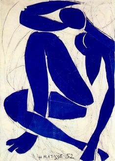 Henri Matisse French Painter and Sculptor (Fauvism) 1869-1954 Blue Nude IV, 1952 (Musée Henri Matisse, Nice, France)