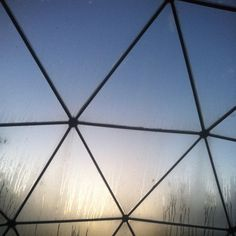 Triangles of a greenhouse. Photo by Sidsel Hartlev.