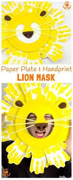 Paper Plate And Handprint Lion Masks  sc 1 st  Pinterest & How to make a tiger mask - BabyCentre blog | Crafts | Pinterest ...