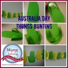 thong bunting for australia day