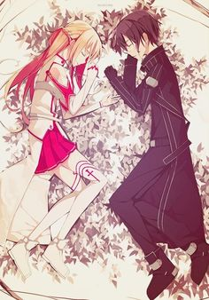 THEY ARE SO CUTE TOGETHER JADLFHASDKHFWEIO SAO sword art online