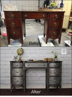 DIY Desk Update with Metal Effects and Metallic Paint by Modern Masters | How-to by The Wood Spa