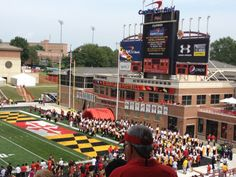 One day i will be seating in student section of the maryland terrapins football field cheering on team!! (hopefully) -js