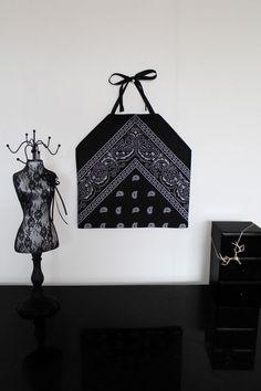 Handmade womens black paisley pattern bandana halter neck crop top by LyaKzh, £10.00  Love this halter neck, definitely going to buy!
