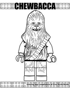 Star Wars Coloring Pages Inspired by Minifigures - True North Bricks Leaf Coloring Page, Puppy Coloring Pages, Preschool Coloring Pages, Colouring Pages, Adult Coloring Pages, Coloring Books, Star Wars Kids, Star Wars Art, Lego Star Wars