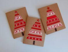 Ideas de tarjetas navideñas caseras ~ lodijoella