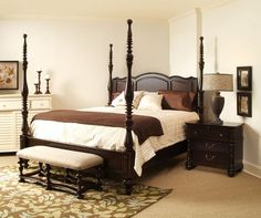 Paula Deen King Size Savannah Poster Bed Tobacco Finish Is A Part Of Paula  Deen Furniture Collection. Available At Knight Furniture Showrooms In  Florence, ...