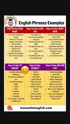 English Learning Spoken, Learning English For Kids, Teaching English Grammar, English Writing Skills, Learn English Words, English Language Learning, English Lessons, Good Vocabulary Words, Vocabulary Practice