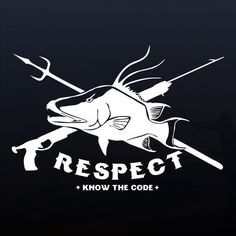"""Respect the Hogfish"" Vinyl Window Sticker in White. Professional grade outdoor vinyl decal. Over 40 fish designs available at respectthefish.com."
