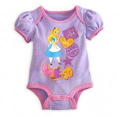 Alice in Wonderland Disney Cuddly Bodysuit for Baby