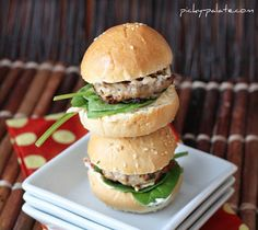 Feta Sun-Drided Tomato Turkey Burger Sliders: could do these without the bun
