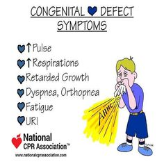 Congenital Heart Defect Symptoms #nursestudent #paramedistudent #medicalstudent #nationalCPRassociation #nationalCPR
