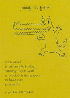 Crocodile Alligator Birthday Invitation Funny Birthday Party