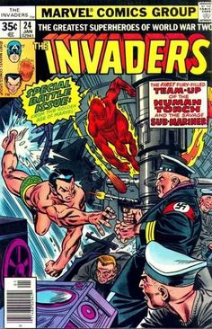 #MARVEL COMICS GROUP [] greatest superheroes of world war two [] #INVADERS []