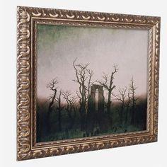 """Trademark Art 'Abbey in Oakwood, 1810' by Caspar Friedrich Framed Painting Print Size: 16"""" H x 20"""" W x 0.5"""" D"""