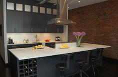 Suzie: J Jones Design - Modern contemporary kitchen design with ebony kitchen cabinets, black ...