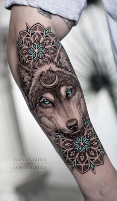 50 of the Most Beautiful Mandala Tattoo Designs for Your Body & Soul a list with. - Tattoos - 50 of the Most Beautiful Mandala Tattoo Designs for Your Body & Soul a list with 50 of the most bea - Mandala Tattoo Design, Wolf Tattoo Design, Henna Tattoo Designs, Tattoo Ideas, Designs Mehndi, Best Tattoo Designs, Tattoos Ideas Men, Sleeve Tattoo Designs, Animal Mandala Tattoo