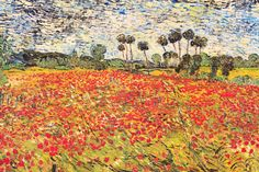 """""""Field of Poppies"""" - canvas print by Vincent van Gogh"""