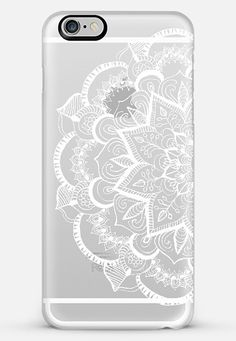 White Feather Mandala on Clear iPhone 5s case by Tangerine- Tane | Casetify