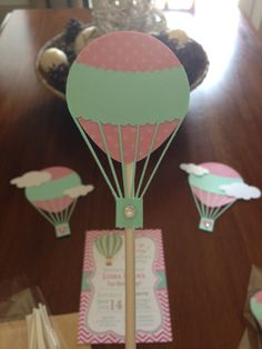 hot air balloon cupcake topper