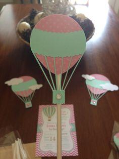 hot air balloon cupcake topper