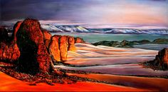 BURGSTALLER Landschaftsbild Landschaftsmalerei Wüste Wandbild Gemälde ALGERIEN http://www.burgstallers-art.de/online-shop/landschaften-tiere/