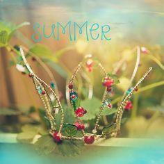 4seasons crown summer beads wire handmade