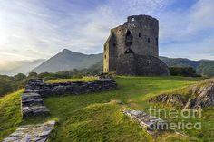 Dolbadarn Castle by Ian Mitchell Snowdonia National Park, Cymru, Beautiful Scenery, Wales, Monument Valley, National Parks, Castle, Artists, Wall Art