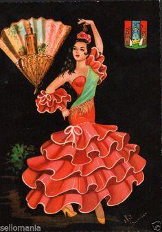 Andalusia, no number or not visible Spanish Dancer, Spanish Art, Dancer Drawing, Ballerina Art, Indian Art Paintings, Flamenco Dancers, Chicano Art, Sewing Art, Dance Art