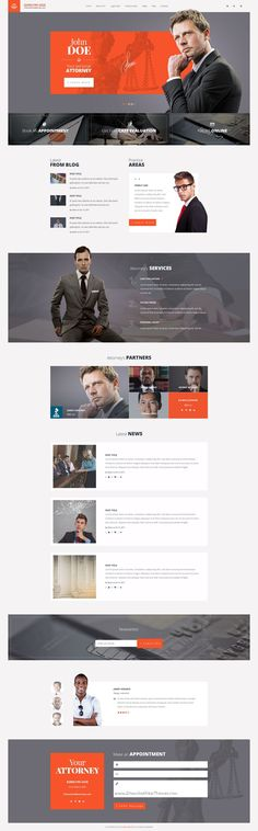 Attorneys is a premium #PSD template for #law firm, personal law #website, financial adviser or small business accountant website with 3 unique homepage layouts and 17 layered PSD pages download now➯ https://themeforest.net/item/attorneys-law-firmprivate-lawyer-psd-template/16894535?ref=Datasata