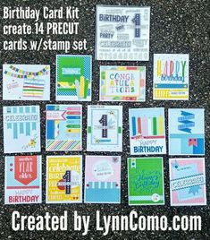 Card Making Kits Two Kits with Complete Instructions to Make 16 ...
