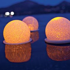Color-changing Floating Light adds instant atmosphere to your pool or pond.