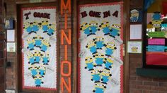 minion classroom door decorations   Our One in a Minion Classroom Doors Grade Back to School 2013