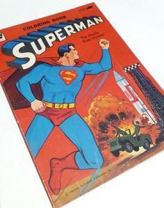 1965 Superman Coloring Book