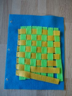 Weave felt page Ages 3 and up. $4.00, via Etsy.